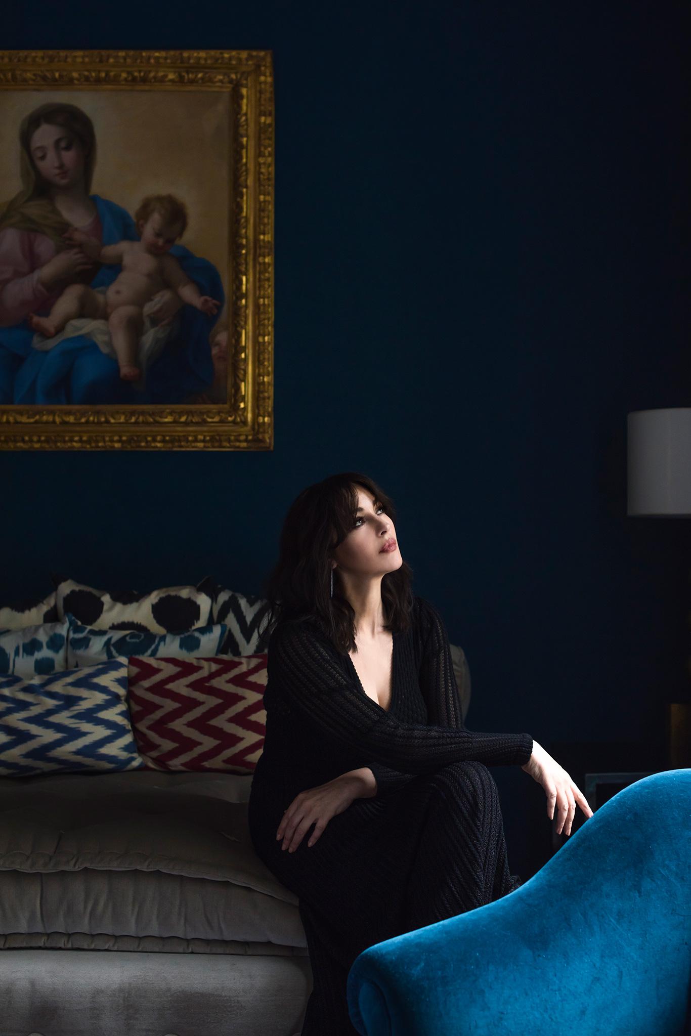 At Home With Monica Bellucci Monica Bellucci
